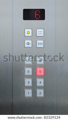 6 floor on elevator buttons
