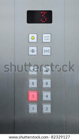 3 floor on elevator buttons