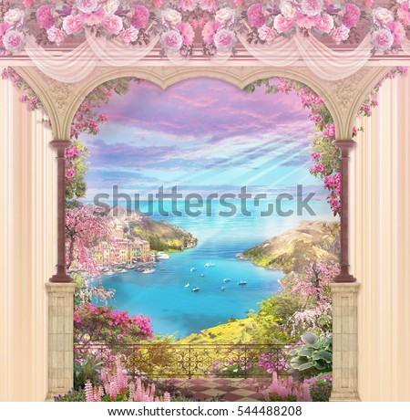 floral background with...
