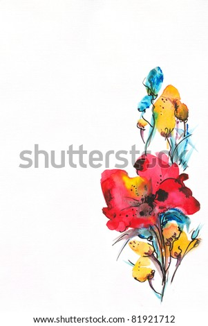 •floral watercolor illustration