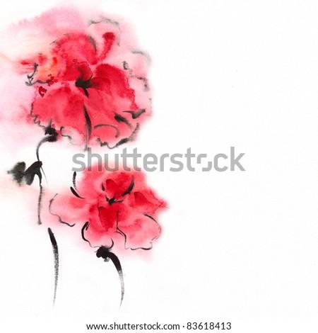 •floral watercolor illustration