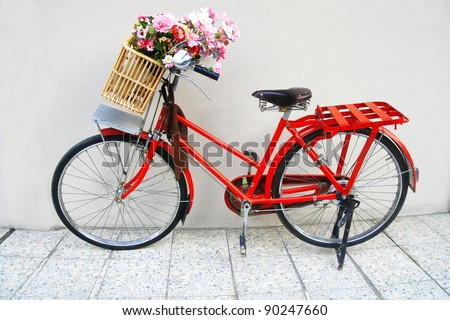flower on a bicycle