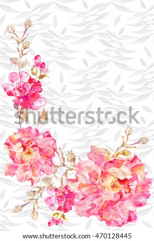 flower watercolor background floral illustration forms for