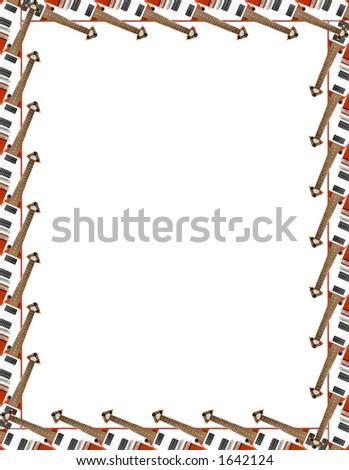 flying v guitar frame on white