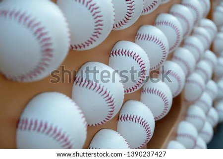 (Focus in Focus out ) Baseball Background. Focus in center. #1390237427