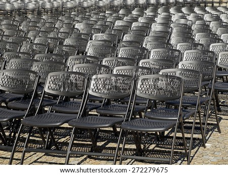 Folding chairs for a open air concert