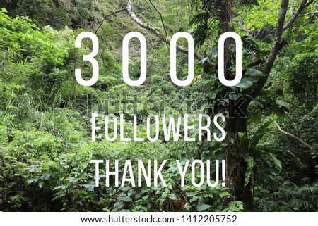 3000 followers banner - social media success sign. Online community thank you note. 3k likes. #1412205752