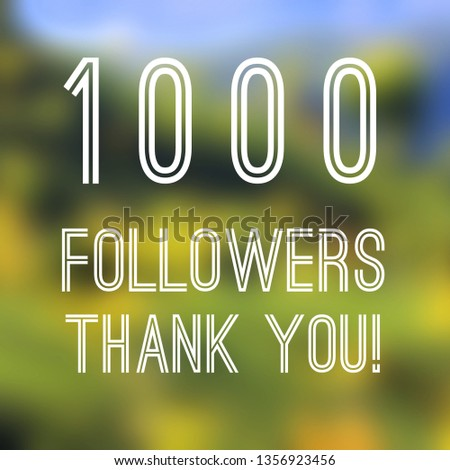 1000 followers thank you square banner - social media milestone sign. 1k likes. #1356923456