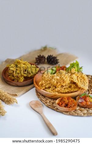 Food named Ayam Kremes Indonesia               Stock fotó ©