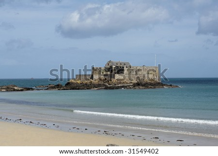"""Fort National"" (formerly Fort Royal) in Saint Malo, France. II"