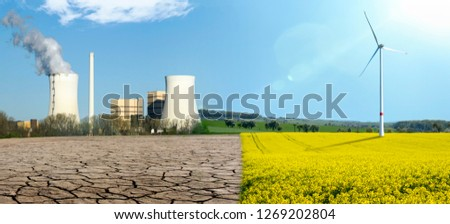Fossil energy and renewable energy #1269202804
