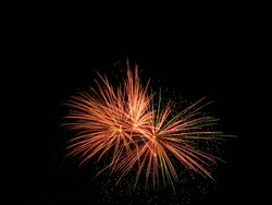 Fourth of July Fireworks explosion