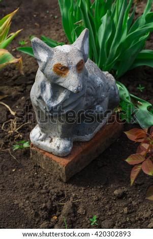Fox Garden Statue Decoration #420302893