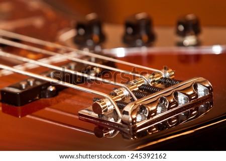 Fragment electric guitar closeup