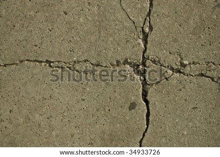 fragment patterns, cracks in concrete slabs