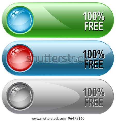 100% free. Internet buttons. Raster illustration. Vector version is in my portfolio.