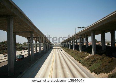 110 freeway north bound in Los Angeles California with On Ramps and off ramps traffic