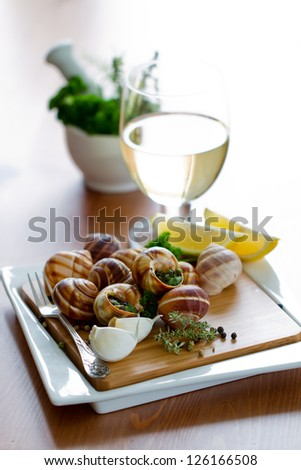 ... (Snails With Herbs Butter) Stock Photo 126166508 : Shutterstock