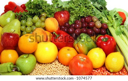 Fresh fruits and vegetables for a healthy and balanced diet. At my gallery more fruits and vegs - Shutterstock ID 1074577