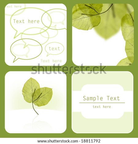 fresh green leaves nature background, with space for text, easy to edit