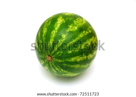 fresh water melon isolated on white background