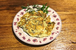 Fried Eggs with Chopped Chinese Toon Leaves