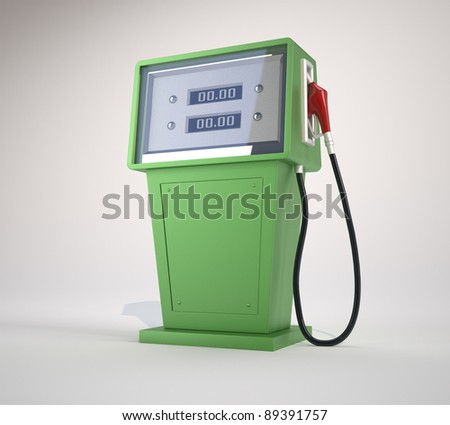 Fuel pump. This is a 3d render illustration