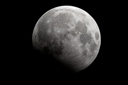 Full Moon and Lunar Eclipse / A lunar eclipse occurs when the Moon passes directly behind the Earth into its umbra.