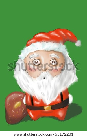 funny pictured Santa Claus