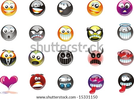 funny smiles. stock photo : 20 funny smiles