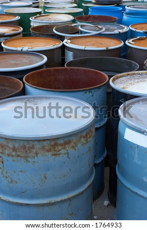 55 gallon waste drums