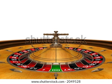 """""""Gambling arena"""" (3D rendered roulette, wide angle, view inside)"""
