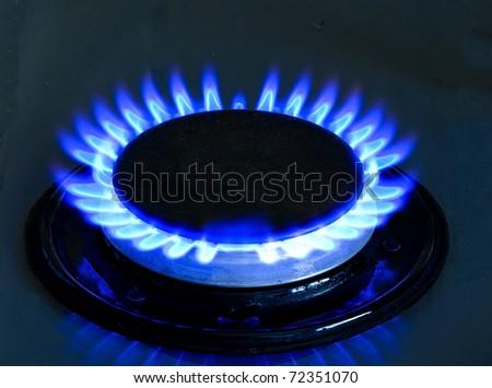 gas burner - stock photo