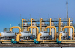 gas purification platform compressor station, dust collector and filter separator