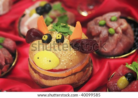 stock photo : gay beef hamburger. Save to a lightbox ▼. Please Login.