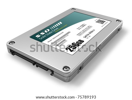 256GB solid state drive (SSD) - stock photo