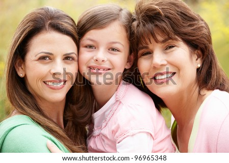 3 generations Hispanic women
