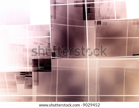 geometric square composition on white background - christian cross
