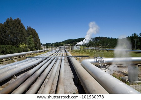 Geothermal power station, alternative energy