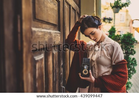 girl on vintage photographs...