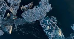 glacier and iceberg landscape