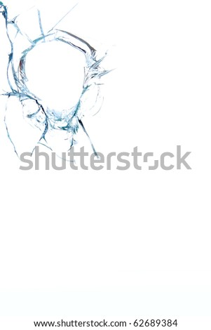 Glass   broken  hole