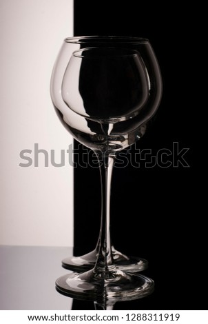 glass goblet in a wine goblet #1288311919