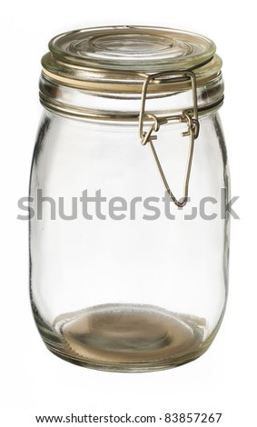glass jar empty to store canned