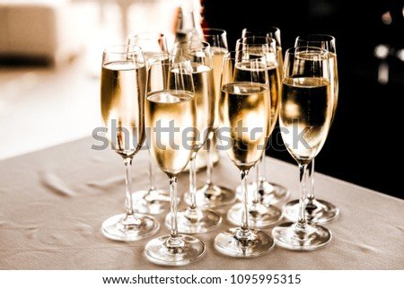 Glasses of champagne at the wedding #1095995315