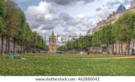 Ã?glise Saint-Louis-des-Invalides Photo stock ©