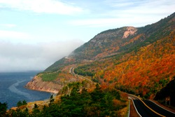 Glorious autumn colours on the winding roads of Cape Breton's Cabot Trail