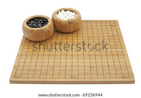 """GO""  boardgame isolated on white background"