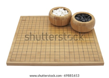 """GO"" boardgame isolated on white background"