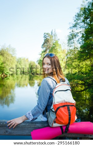 goes hiking, forest, recreation, love, active lifestyle
